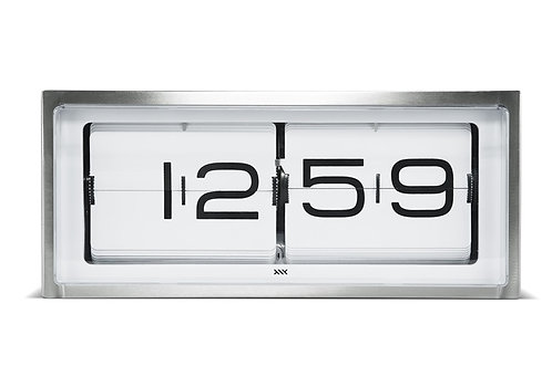 LEFF wall/desk clock brick stainless steel