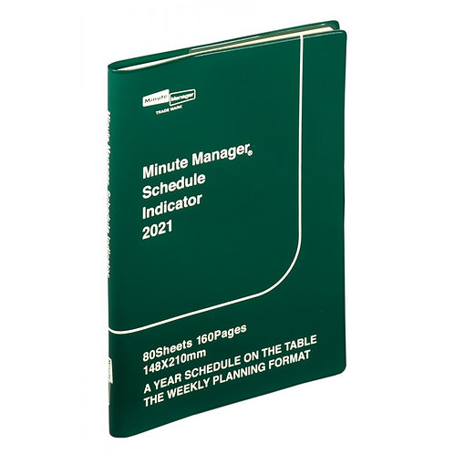 2021 DIARY MINUTE MANAGER (A5, GREEN)