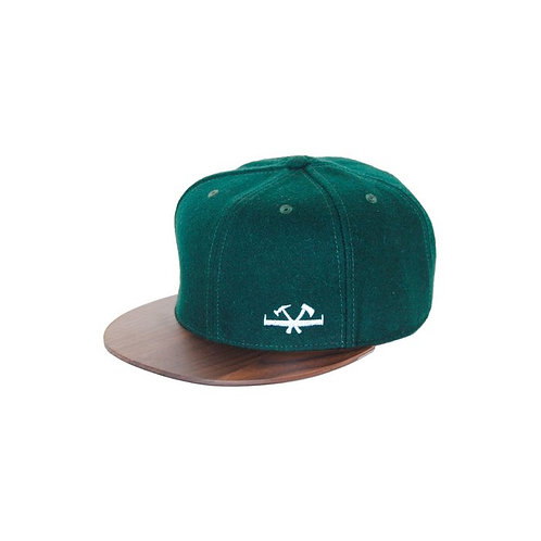 Wooden Cap - Forest Green