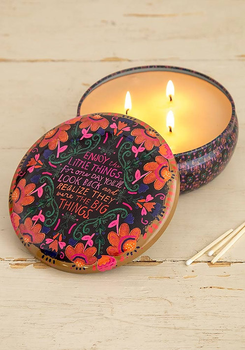 Enjoy Little Things Candle Tin