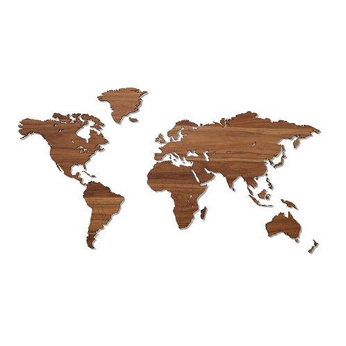 World Map - Walnut