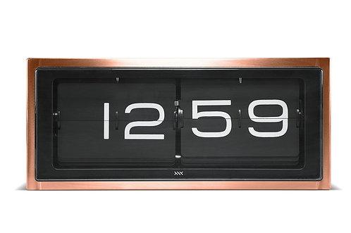 LEFF wall/desk clock brick copper