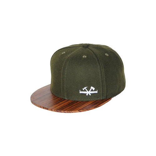 Wooden Cap - Moss Green