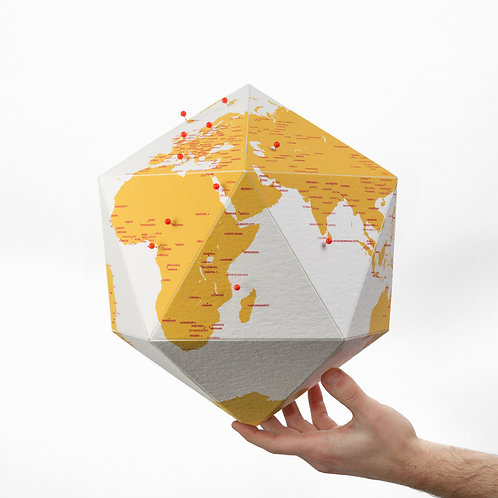 Pin Globe Cities - Yellow
