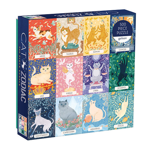 Cat Zodiac 500 Piece Puzzle