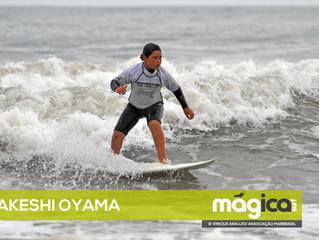 Materia publicada na revista Magica Surf sobre primeiro lugar de Takeshi Oyama