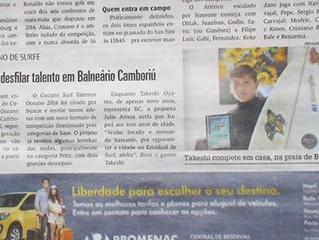 matéria no Jornal Diarinho 29-05-2016