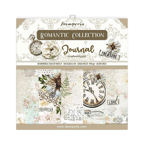 STAMPERIA Paper Pad - Romantic Journal