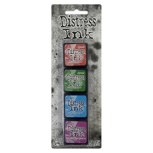 TIM HOLTZ Distress Mini Ink Pads 4/Pkg - Kit#2