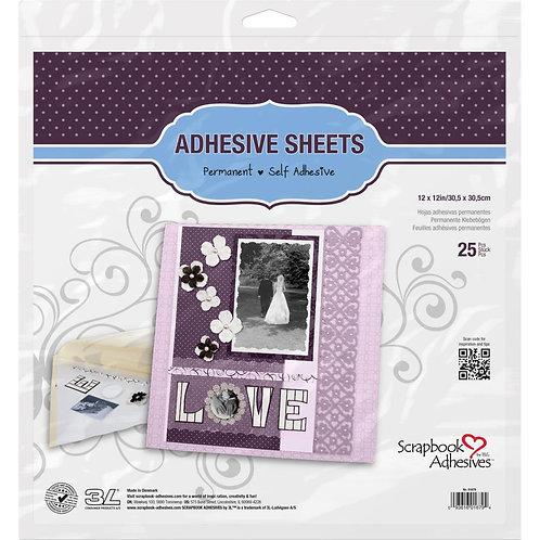 3L 12x12 Adhesive Sheets - 25pcs.
