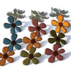 EYELET OUTLET Shaped Brads (12/pkg) - Fall Flower
