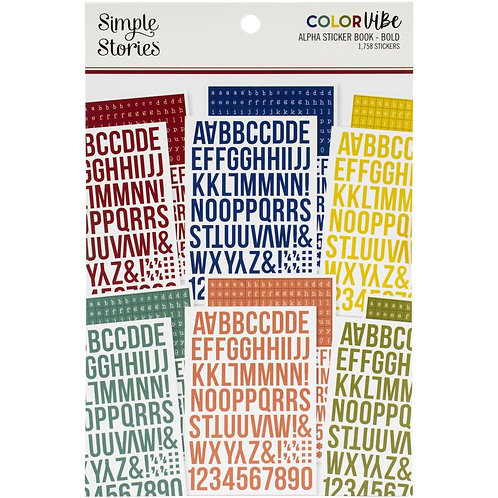 SIMPLE STORIES Color Vibe ABC - Bold