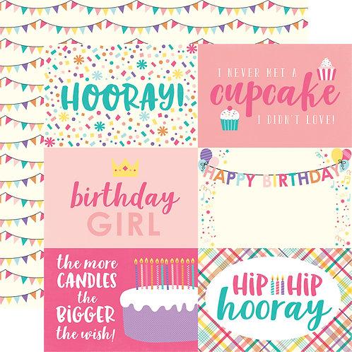 ECHO PARK Happy Birthday Girl - Journal Cards