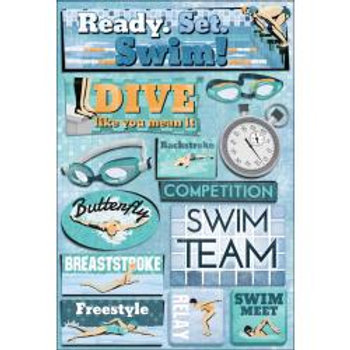 KAREN FOSTER Stickers - Ready Set Swim