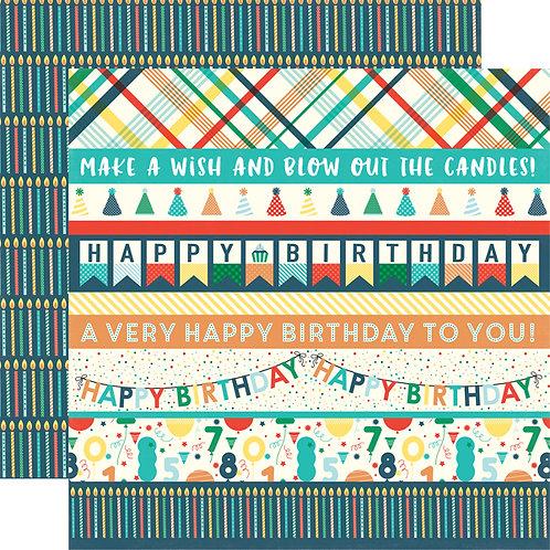 ECHO PARK Happy Birthday Boy - Border Strips