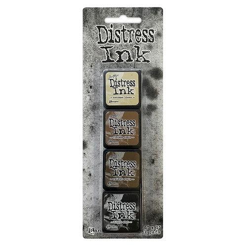 TIM HOLTZ Distress Mini Ink Pads 4/Pkg - Kit#3