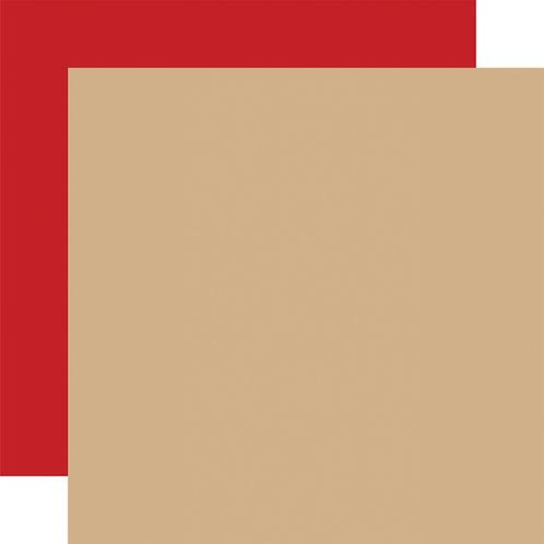 CARTA BELLA Designer Solids - Tan/Red