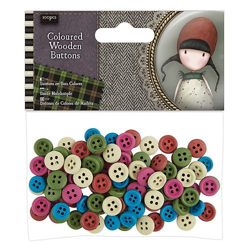 SANTORO Coloured Wooden Buttons