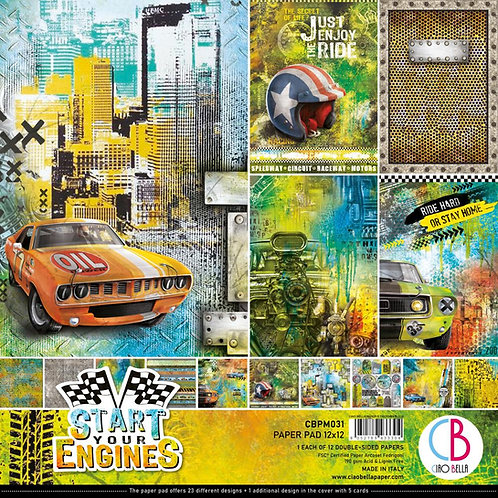 CIAO BELLA Paper Pack (12/pkg) - Start Your Engines