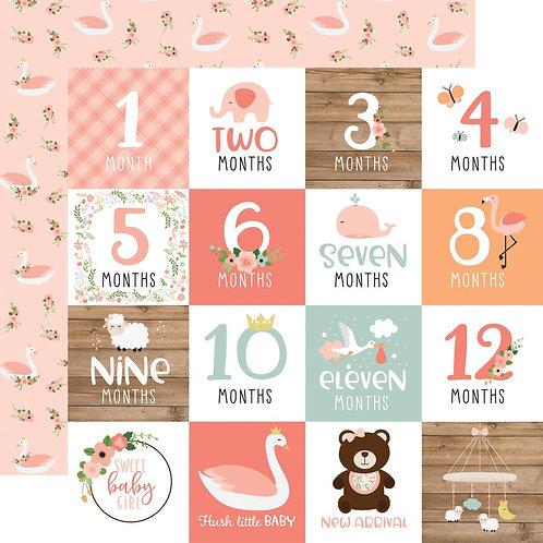 ECHO PARK Baby Girl Milestones Cards