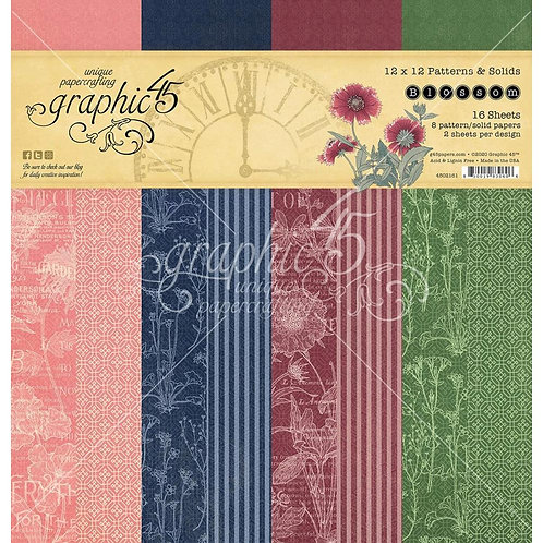 GRAPHIC 45 Patterns & Solids - Blossom