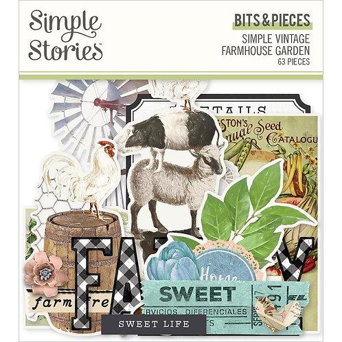 SIMPLE STORIES SV Garden Farmhouse - Farmhouse Bits (63/pkg)