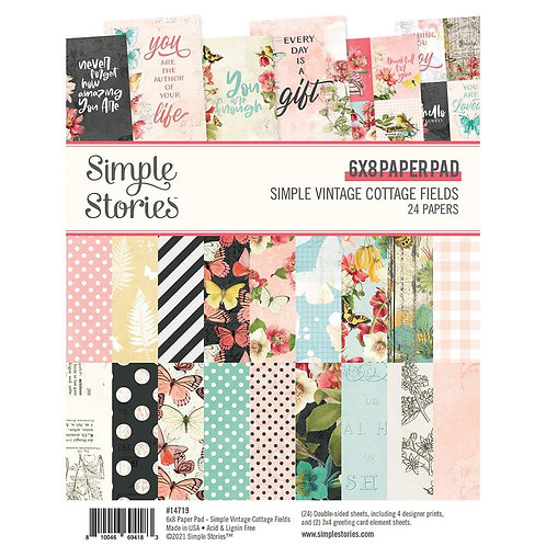 SIMPLE STORIES 6x8 Paper Pad - Cottage Fields