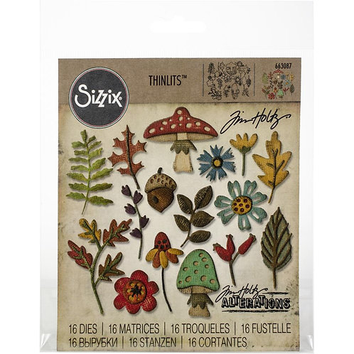 SIZZIX Thinlets Funky Foliage Collection
