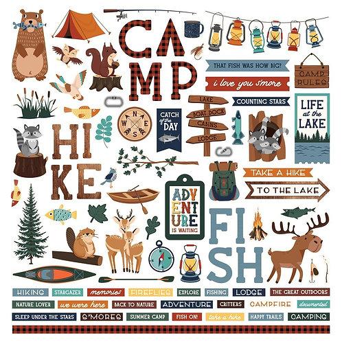 PHOTO PLAY 12x12 Sticker -  Camp Happy Bear