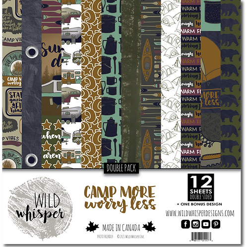 WILD WHISPER Double Paper Pack - Camp More, Worry Less