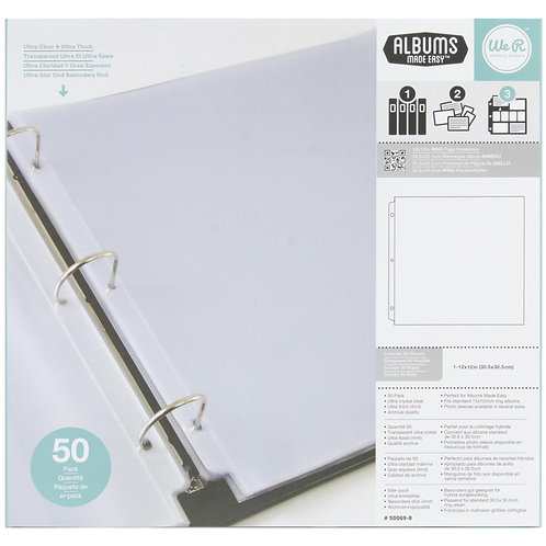WE R MEMORY KEEPERS 12x12 Ring Album Refill (50/pkg)