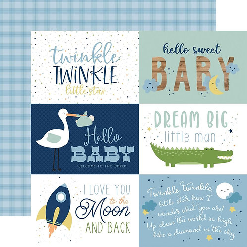 ECHO PARK Baby Boy Journaling Cards