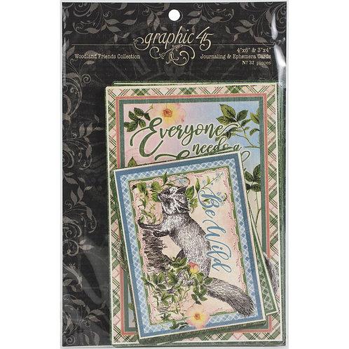 GRAPHIC 45 Woodland Friends Ephemera & Journal Cards