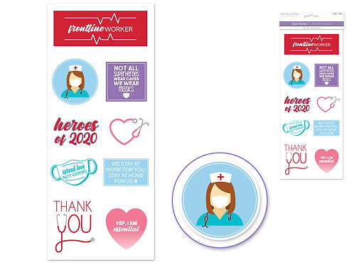 Health Care Workers - PAPER CRAFT Sticker