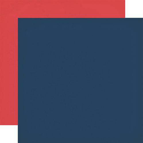 ECHO PARK Designer Solids - Navy/Red