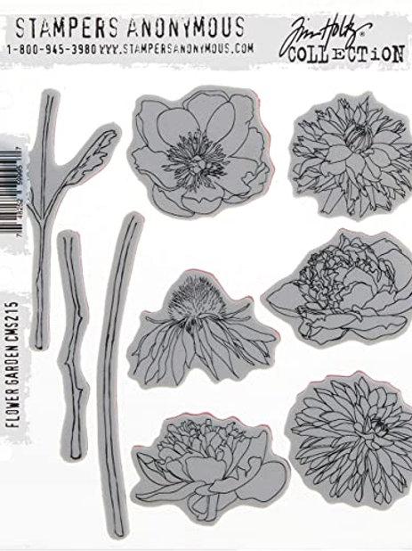 TIM HOLTZ Stamp - Flower Garden