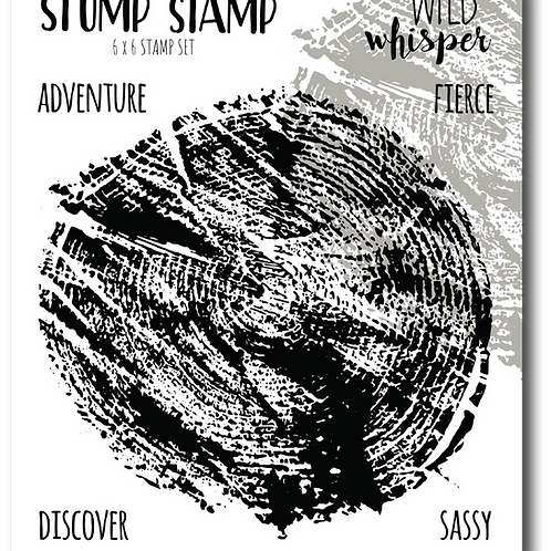 WILD WHISPER 6X6 Stamp - Stump
