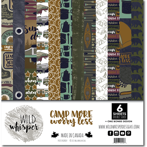 WILD WHISPER Paper Pack - Camp More, Worry Less