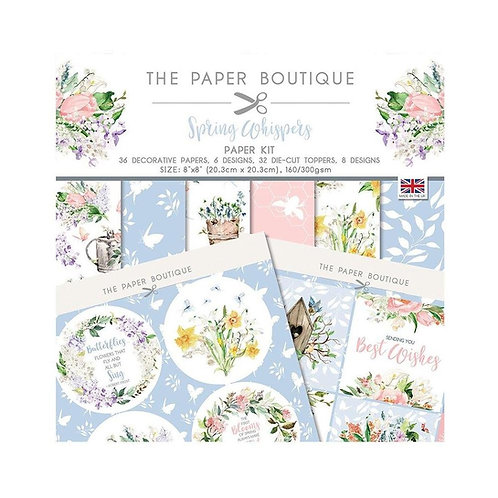 THE PAPER BOUTIQUE 8x8 Paper Kit - Spring Whispers