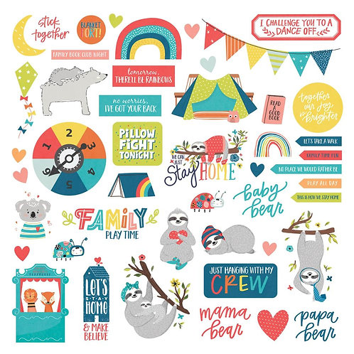 PHOTO PLAY Element Stickers - Stay Home
