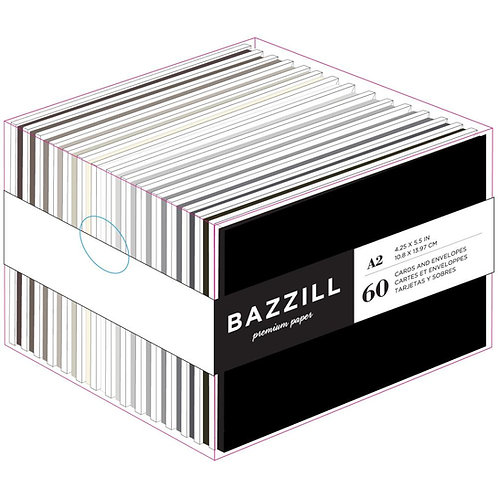 BAZZILL Value Pack Cards W/ Envelopes - Neutrals
