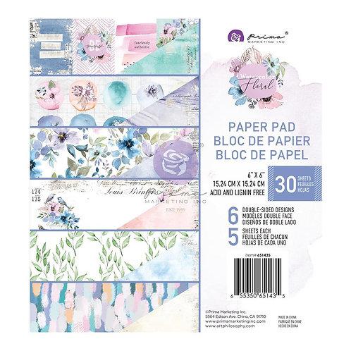 PRIMA MARKETING 6x6 - Watercolor Floral Pad