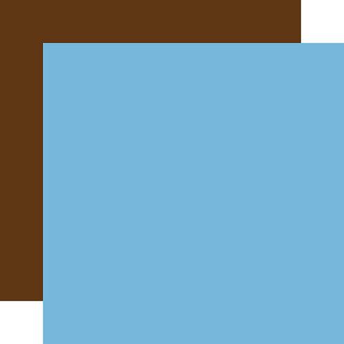 CARTA BELLA Designer Solids - Light Blue/ Brown 2