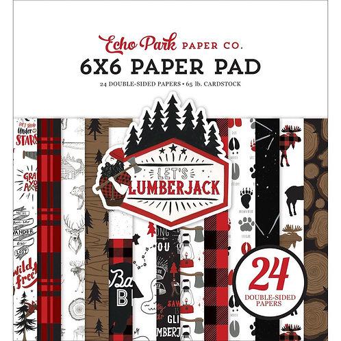 ECHO PARK 6x6 Paper Pad Let's Lumberjack