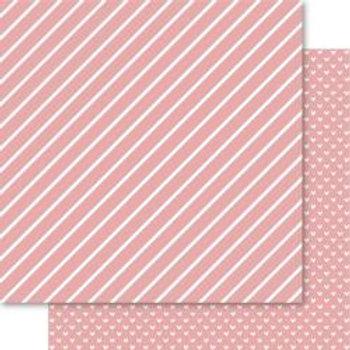 BELLA Hearts & Stripes Foiled 12x12 Cardstock