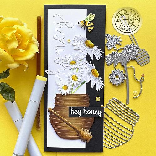 HERO ARTS Dies - Bees & Flowers