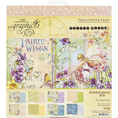 GRAPHIC 45 8x8 Paper Pad - Fairie Wings