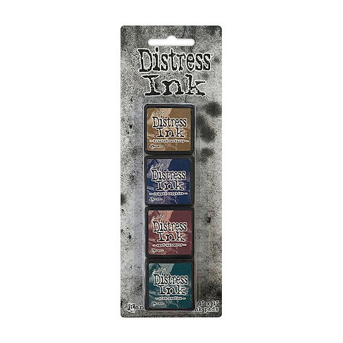 TIM HOLTZ Distress Mini Ink Pads 4/Pkg - Kit#12