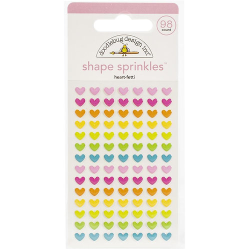 DOODLEBUG Sprinkles Enamel Shapes - Heart Fetti