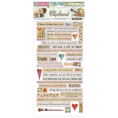 STAMPERIA Chipboard Quotes - Atellier